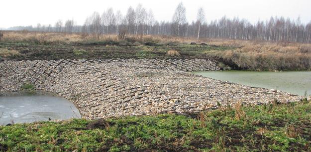 Переливная плотина на модельном участке «Бублик». Фото О.Гринченко