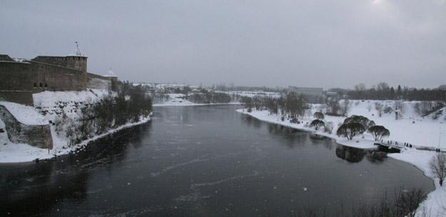 Река Нарва, Эстония. Фото О.С. Гринченко